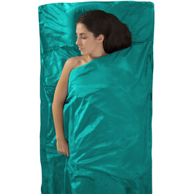 Sea to Summit Silk/Cotton Travel Betræk Traveller with Pillow Slip, turkis